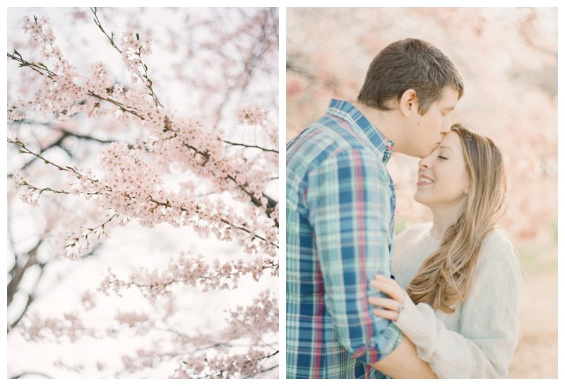 Cherry Blossom Central Park Engagement Session