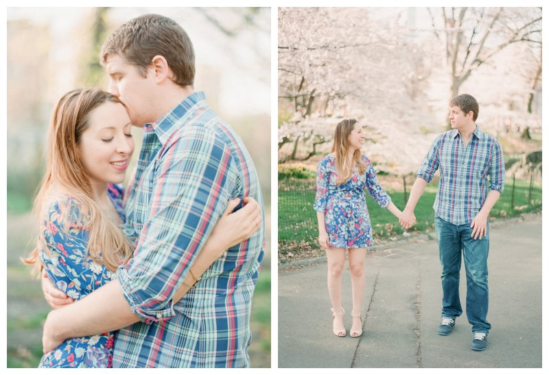 Cherry Blossom Central Park Engagement pictures