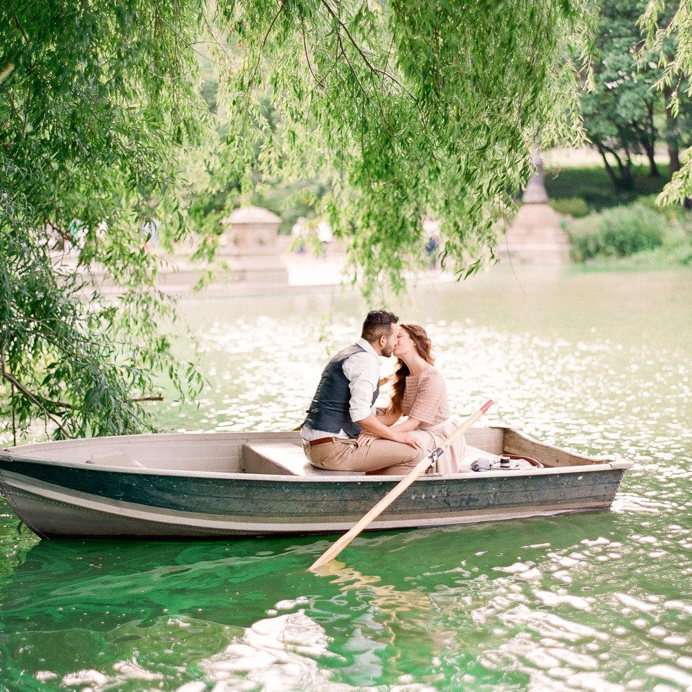 Central Park Boathouse Engagement Session