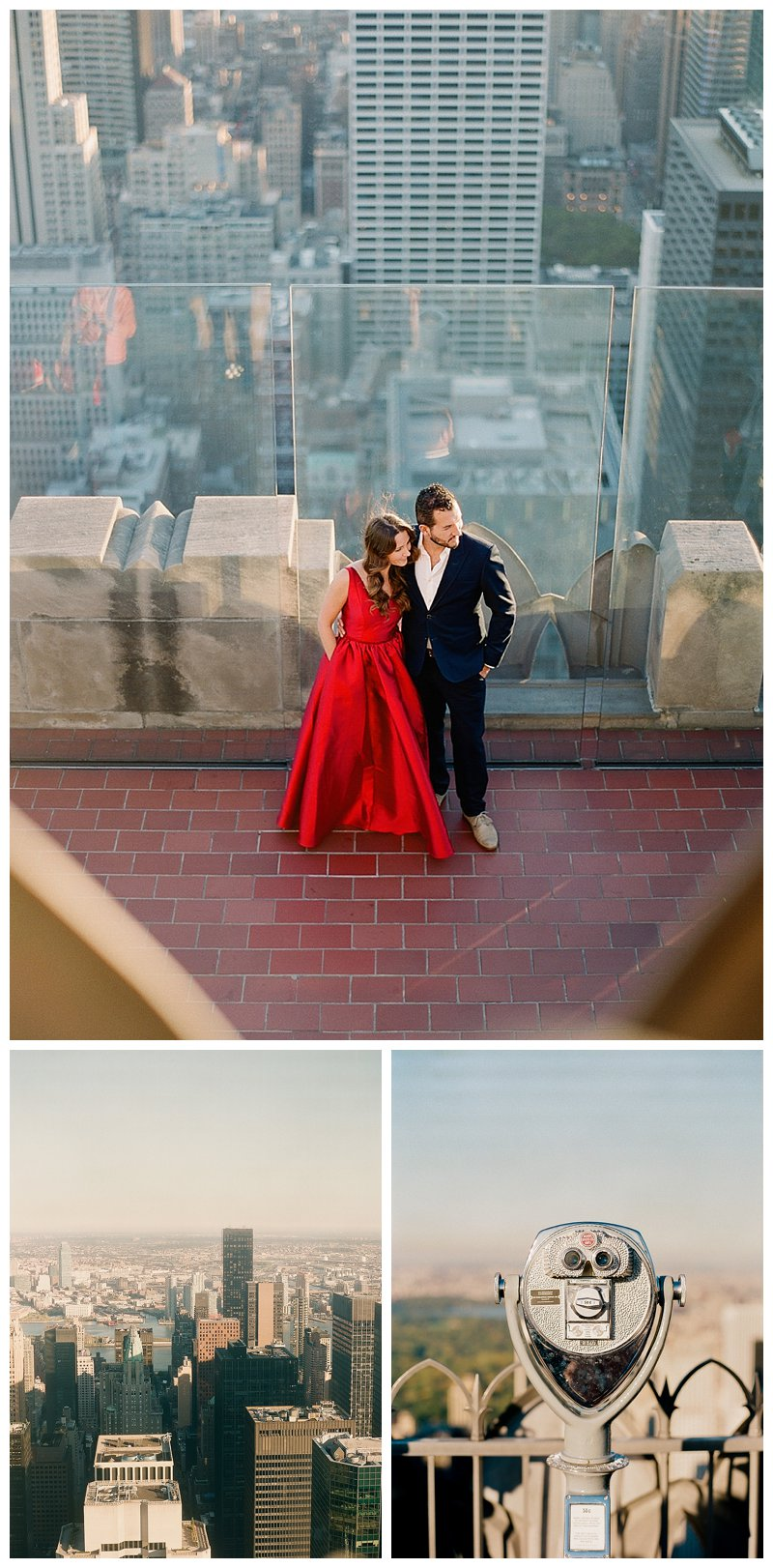 nyc engagement, top of the rock, rockefeller center
