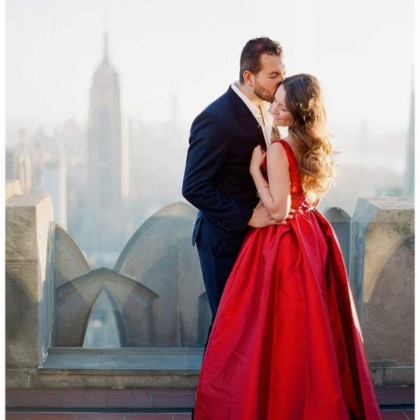 NYC Engagement Photos Top of the Rock |Rockefeller Center