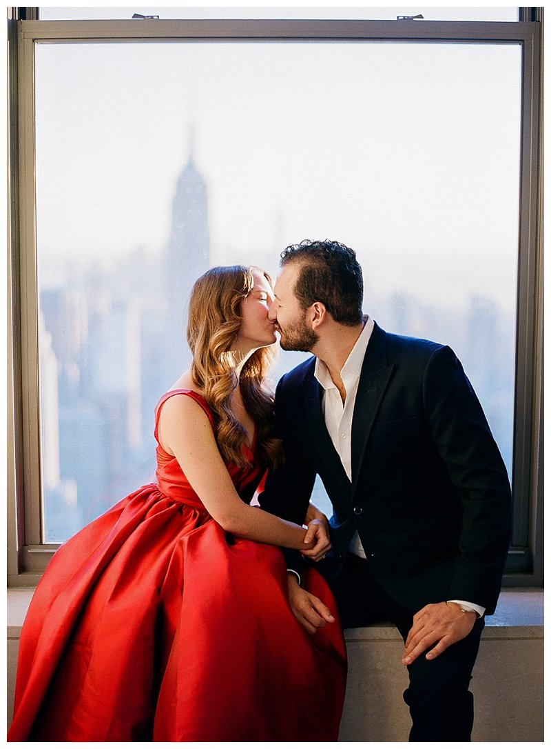 nyc engagement photos top of the rock