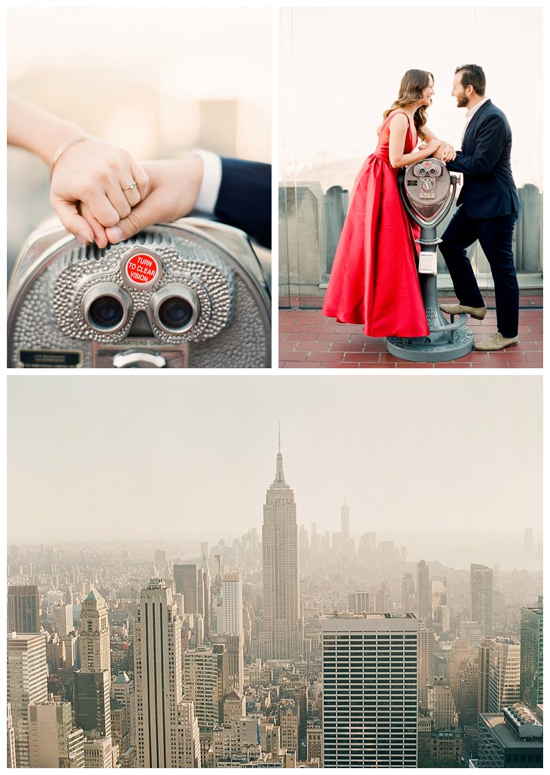 nyc engagement, top of the rock